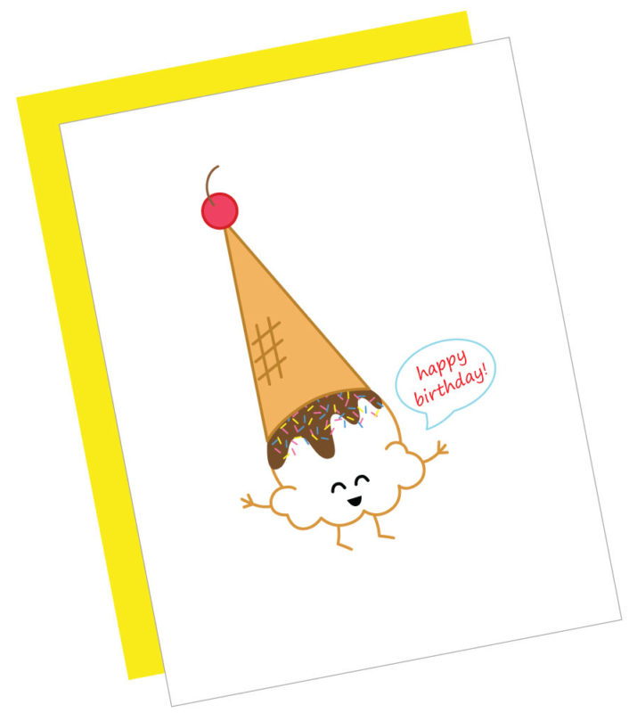 Happy Birthday Ice Cream Card