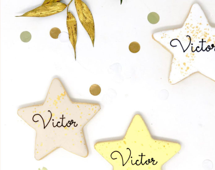 Vegan Personalized Star Cookies