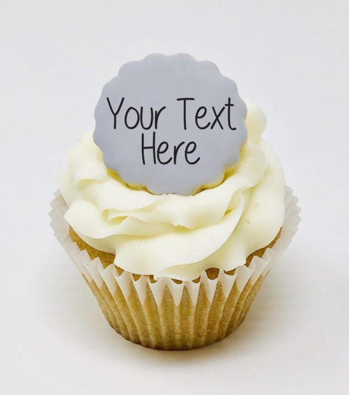 Vegan Message Cupcakes