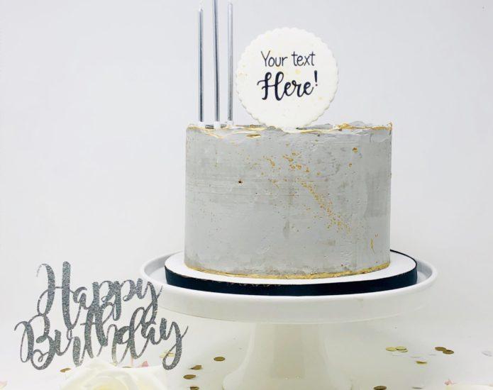 Luxe Concrete Cakes