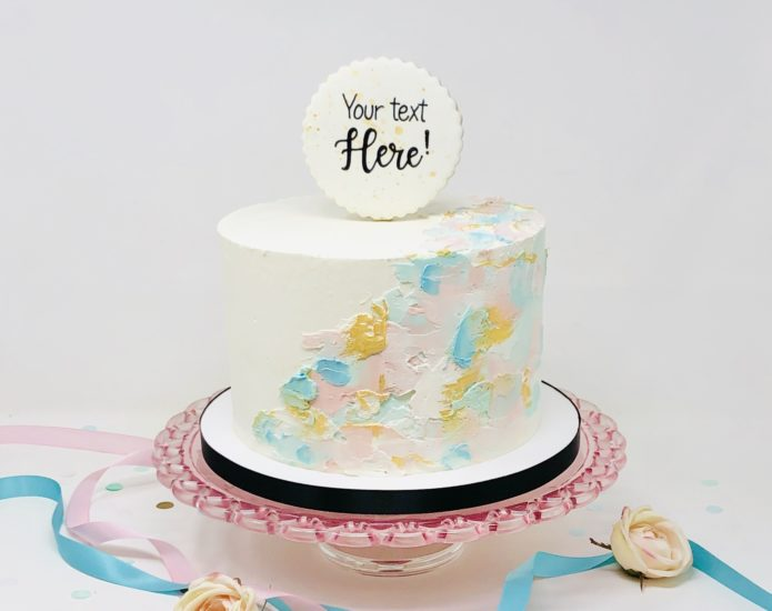 Luxe Gender Reveal Cakes