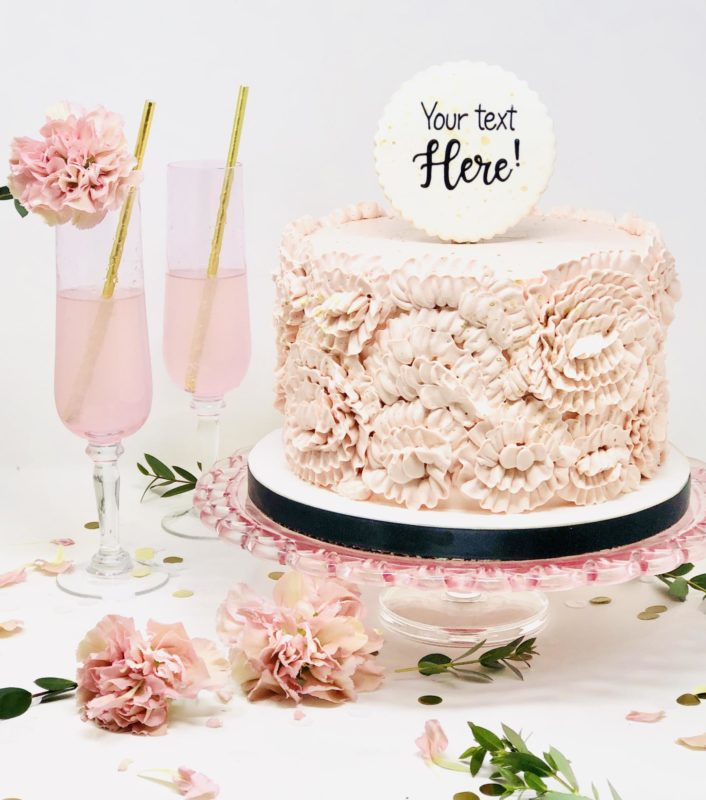 Luxe Ruffled Rose Cakes