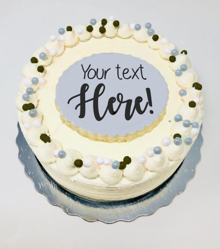 Vegan Message Cakes