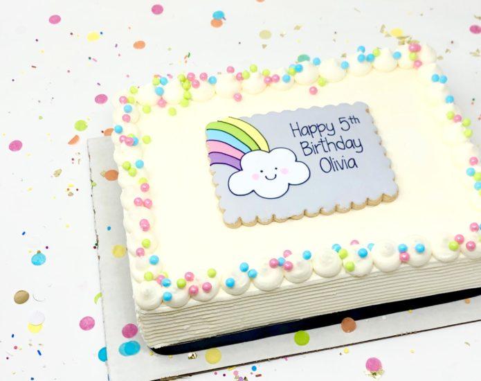 Vegan Rainbow Cakes