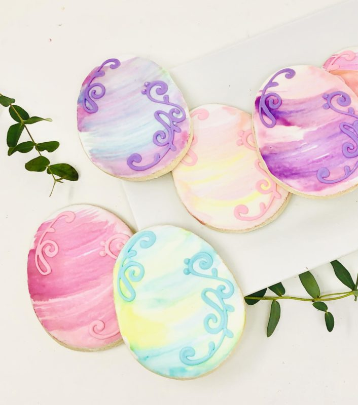 Watercolour Easter Egg Cookies (6)