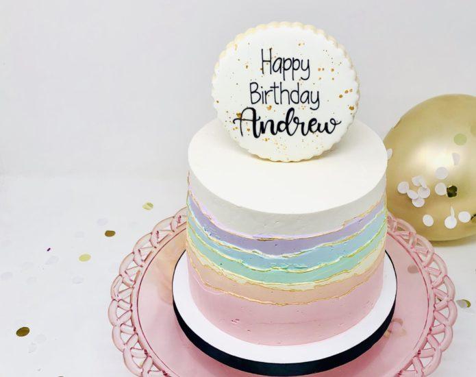 Luxe Rainbow Sky Cakes