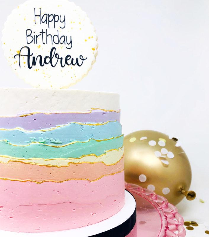 Luxe Rainbow Sky Cake