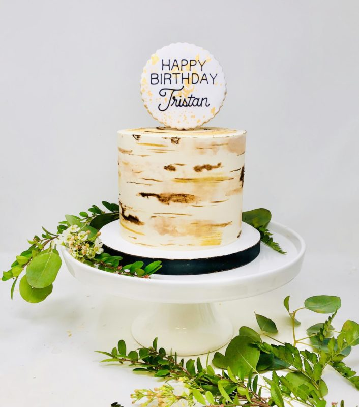 Luxe Birch Cakes