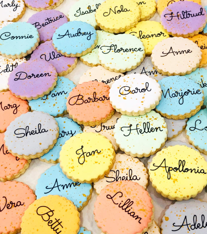 Vegan Personalized Mini Cookies
