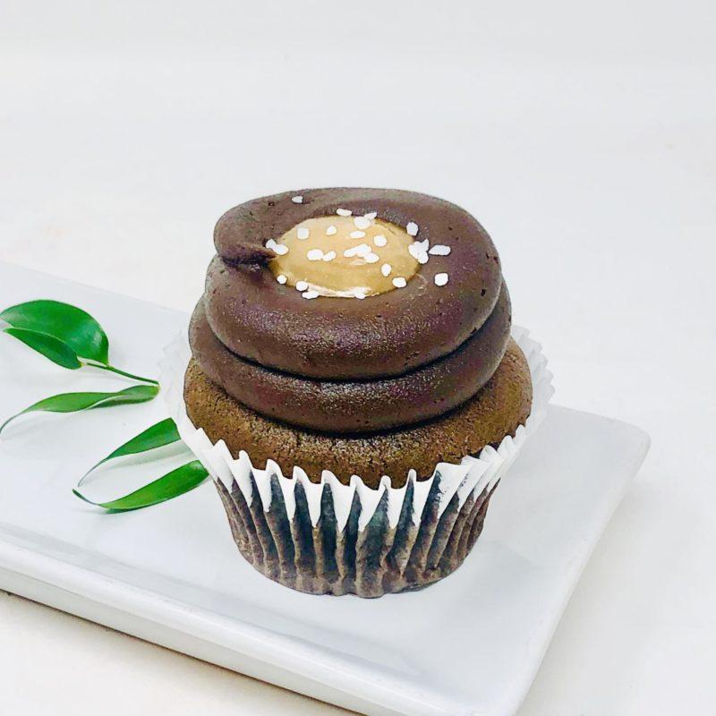 Vegan Chocolate Salted Caramel Cupcakes