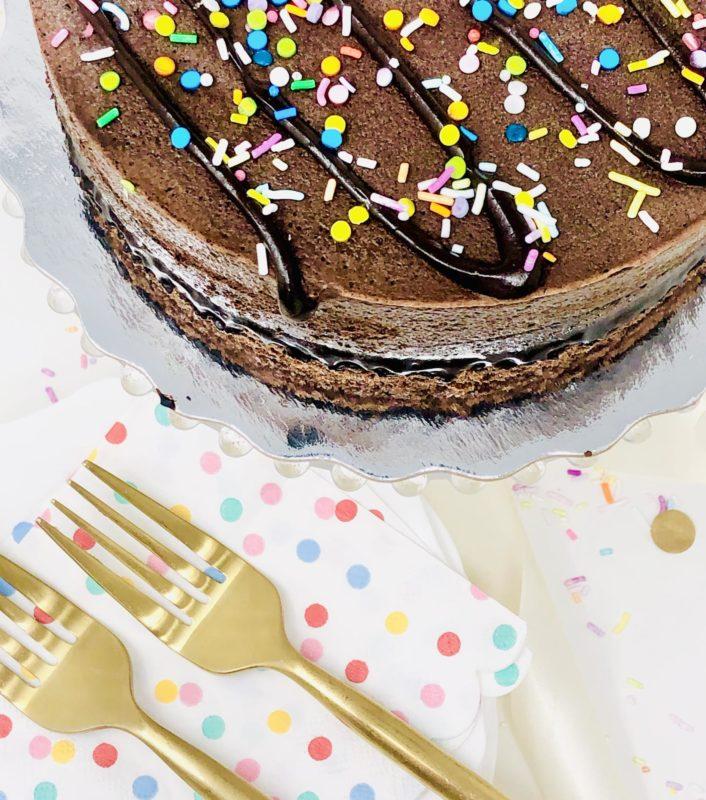Vegan Chocolate Ice Cream Cake