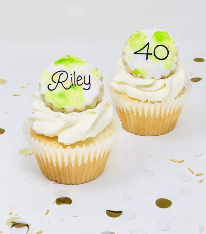 Green & Gold Cupcakes