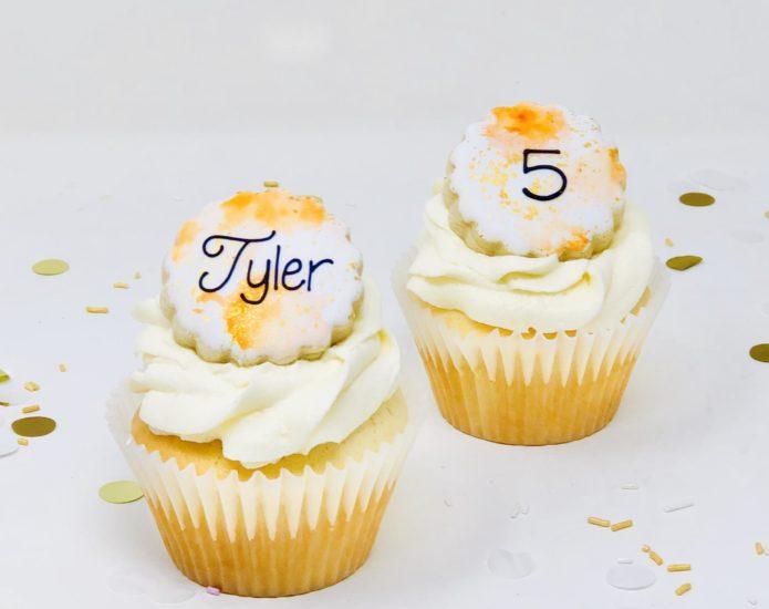 Orange & Gold Cupcakes