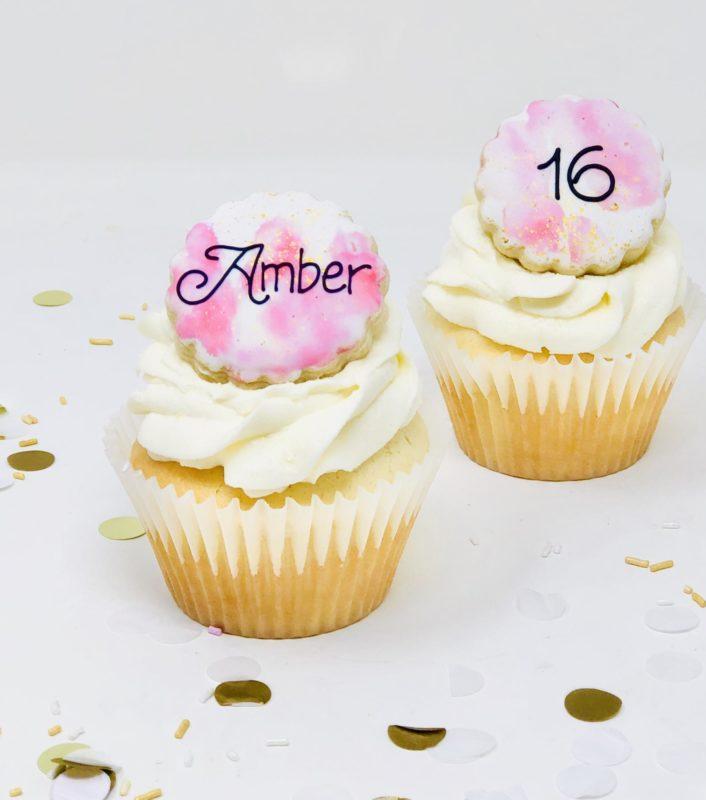 Pink & Gold Cupcakes