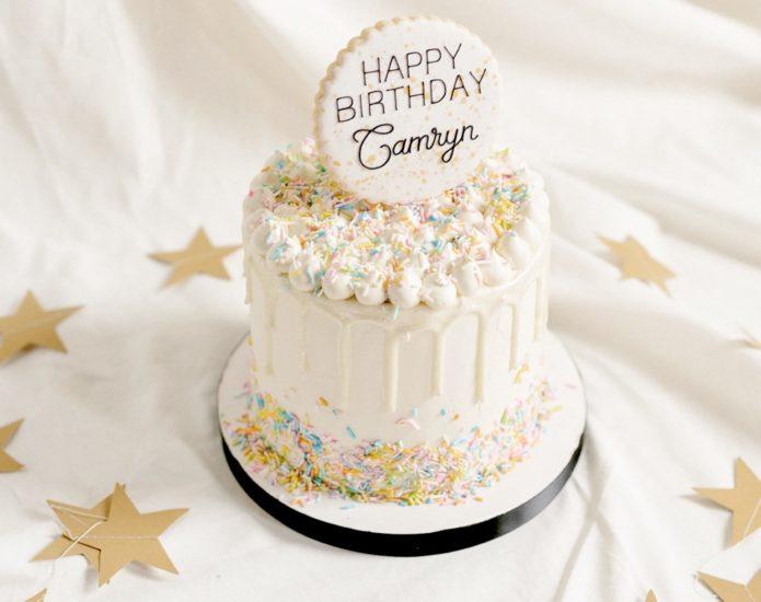 Luxe Confetti Cakes