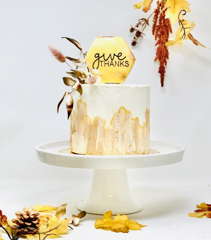 Luxe Thanksgiving Cake
