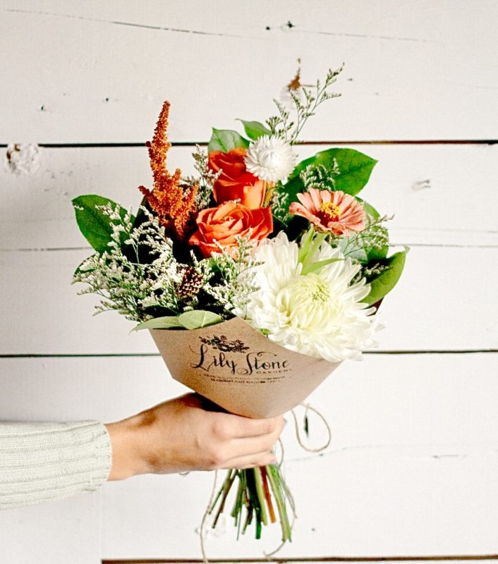 Thanksgiving Flowers & Cookie Gift