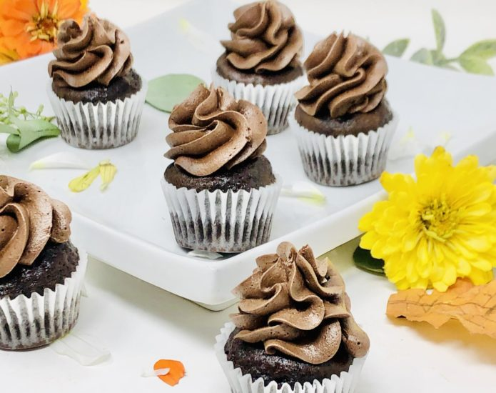 Black Chocolate Mini Cupcakes