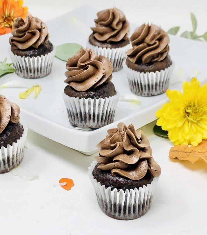 Black Chocolate Mini Cupcakes