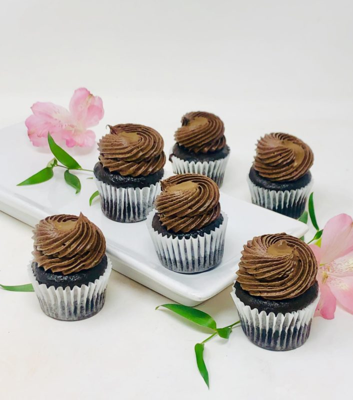 Chocolate Caramel Mini Cupcakes
