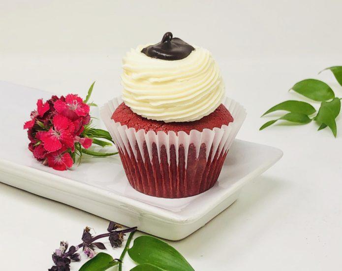 Red Velvet Ganache Cupcakes