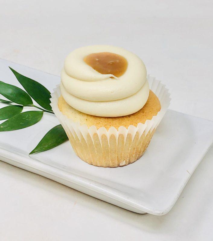 Vegan Vanilla Caramel Cupcakes