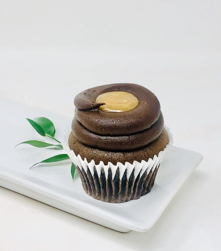 Vegan Chocolate Caramel Cupcakes