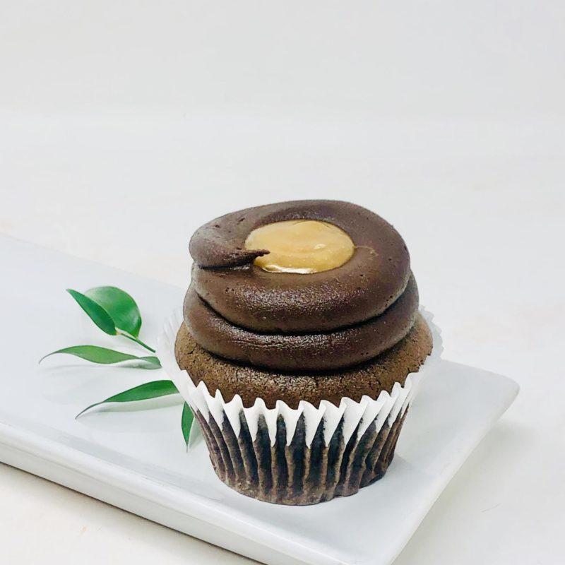 Vegan Chocolate Caramel Cupcakes