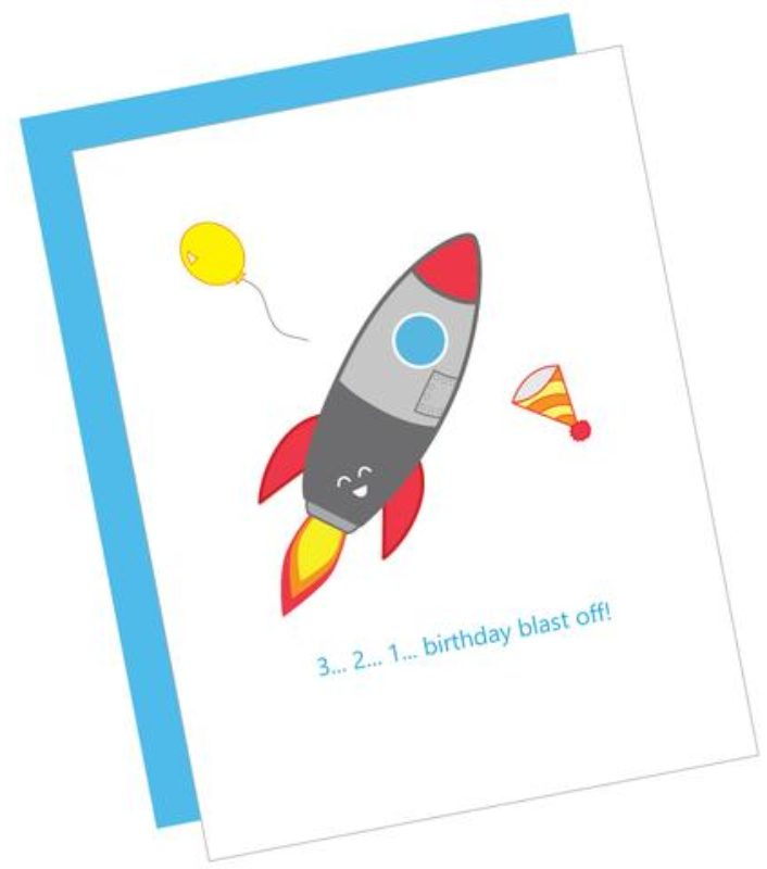 Birthday Blast Off Card