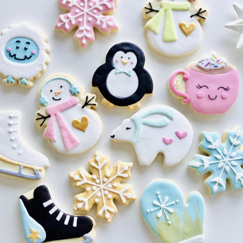 Winter Decorated Cookies