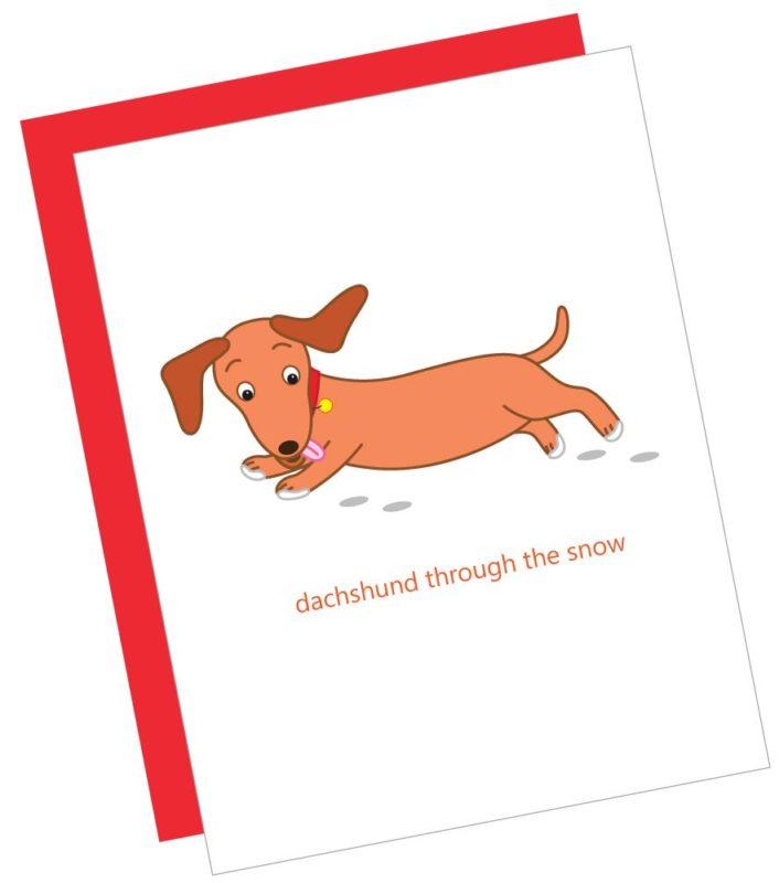 Dachshund Through the Snow Card