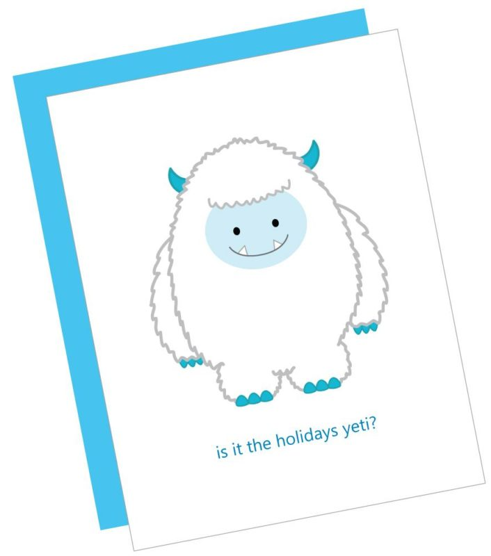 Is it the Holidays Yeti Card