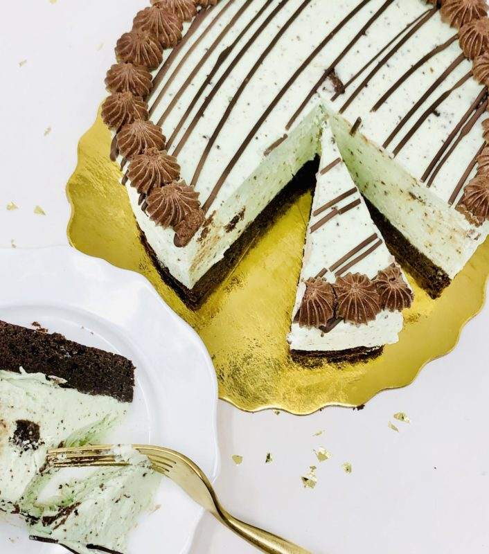 Cookies n' Mint Cheesecake