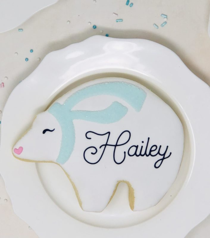 Personalized Polar Bear Cookies