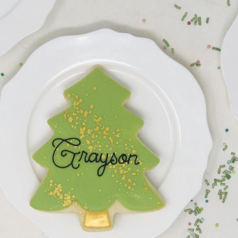 Personalized Tree Cookies