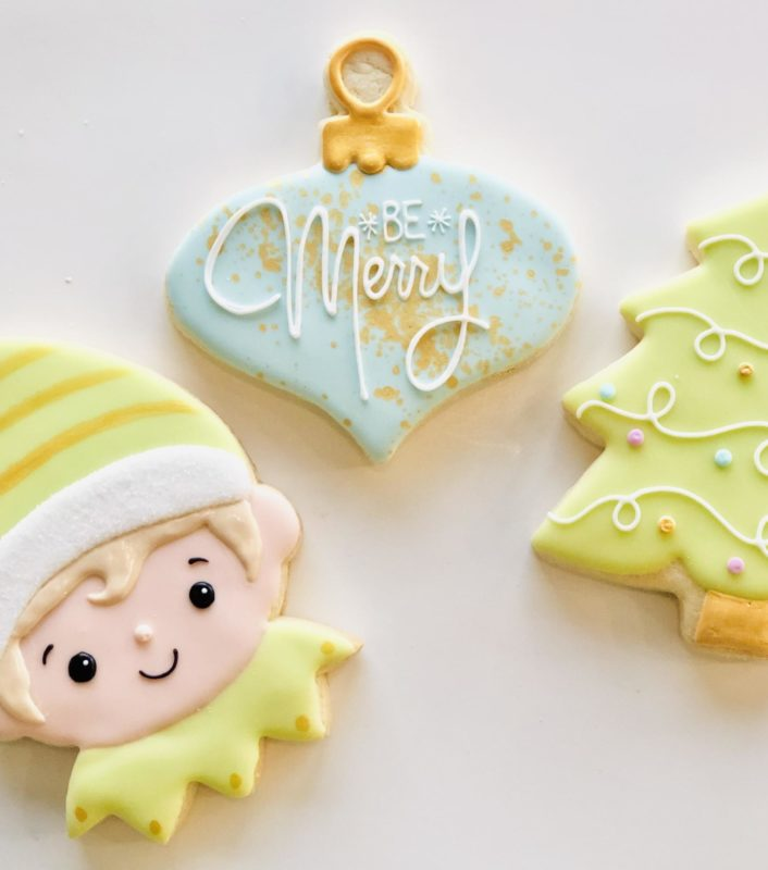 Vegan Christmas Decorated Cookies