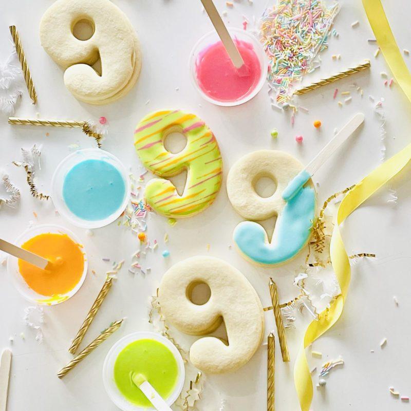 DIY Birthday Number Cookie Kit