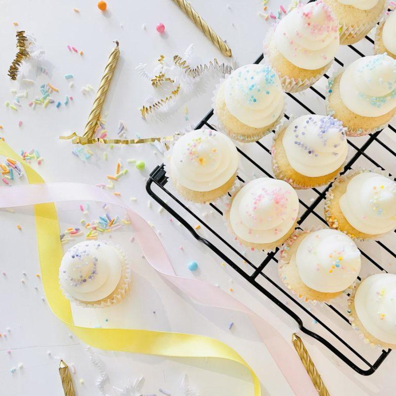 Vegan Sprinkle Mini Cupcakes