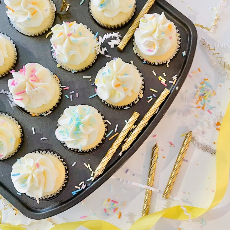 Sprinkle Mini Cupcakes