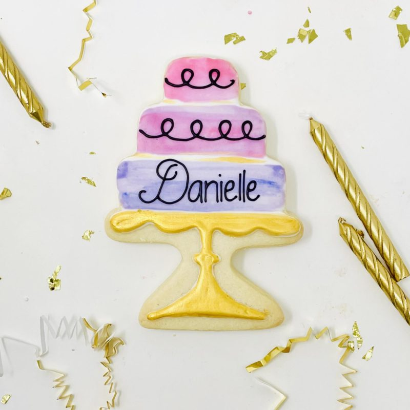 Personalized Cake Cookies