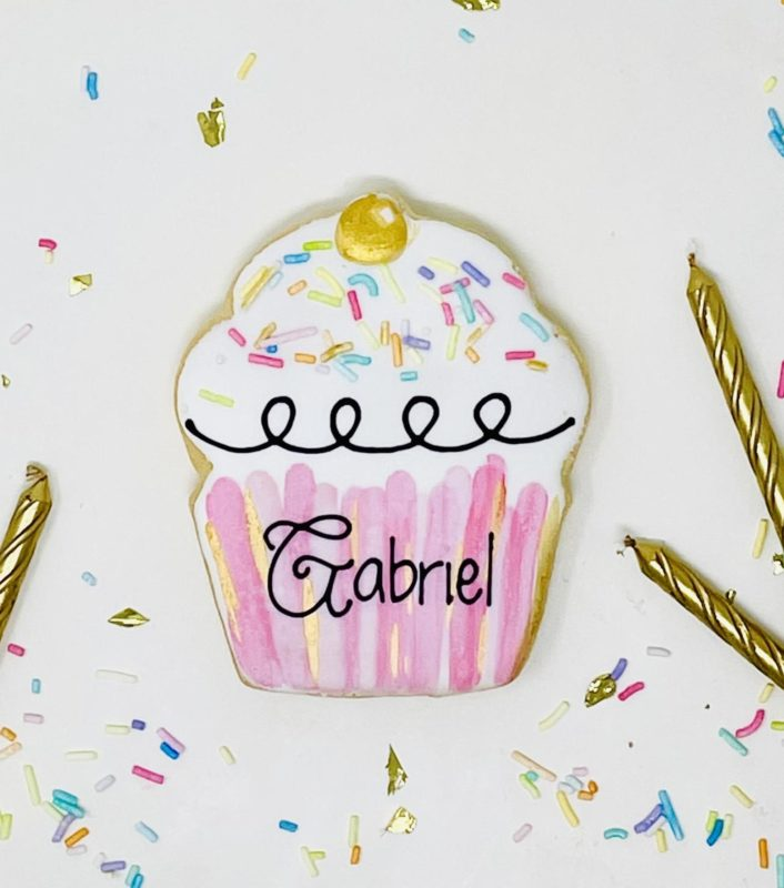 Vegan Personalized Cupcake Cookies