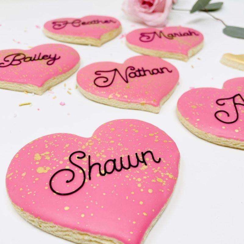 Vegan Personalized Heart Cookies