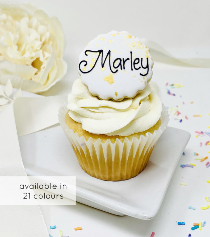 Personalized Baby Cupcakes