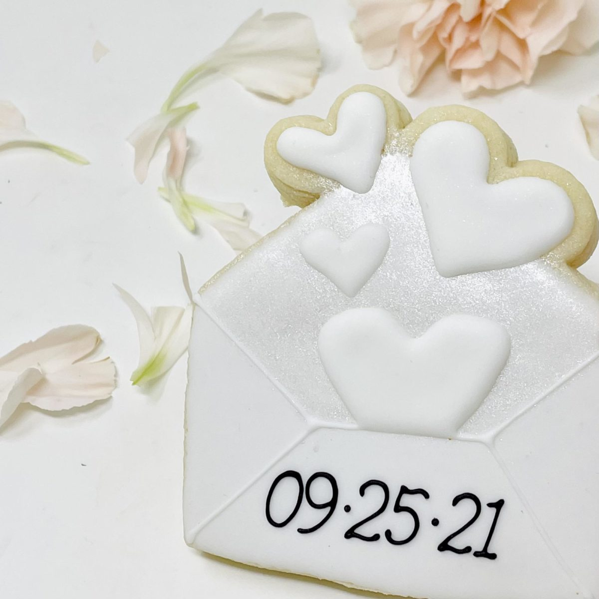 Save the Date Envelope Cookies
