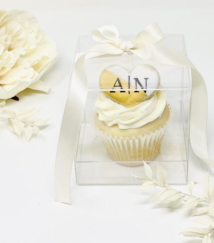 Monogram Cupcake Wedding Favours