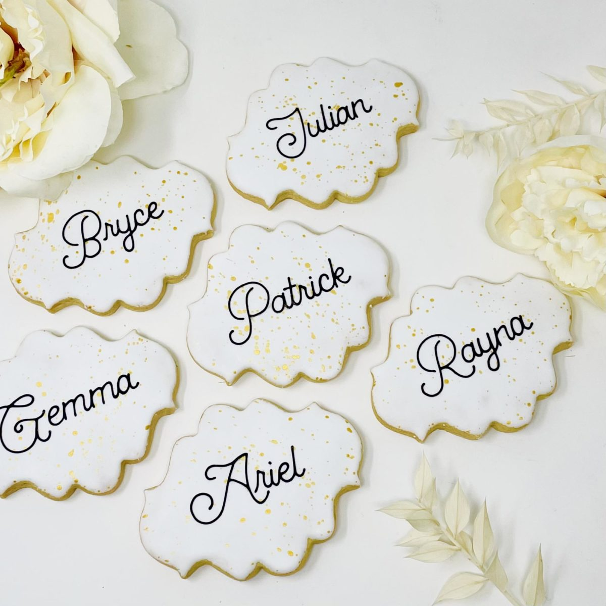 Place Card Wedding Cookies