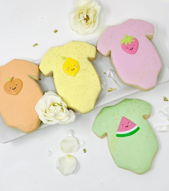 Vegan Fruity Onesie Cookies
