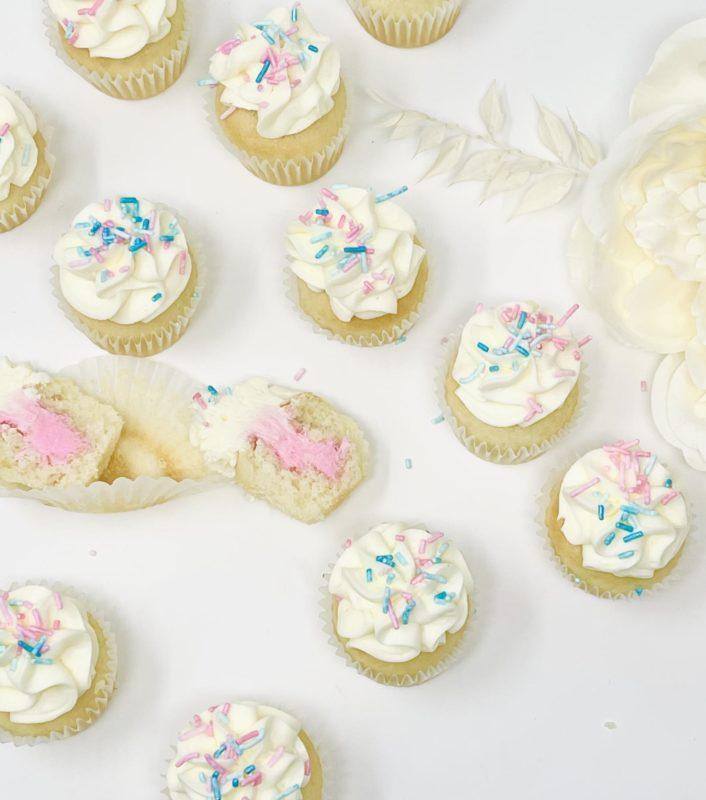 Gender Reveal Mini Cupcakes