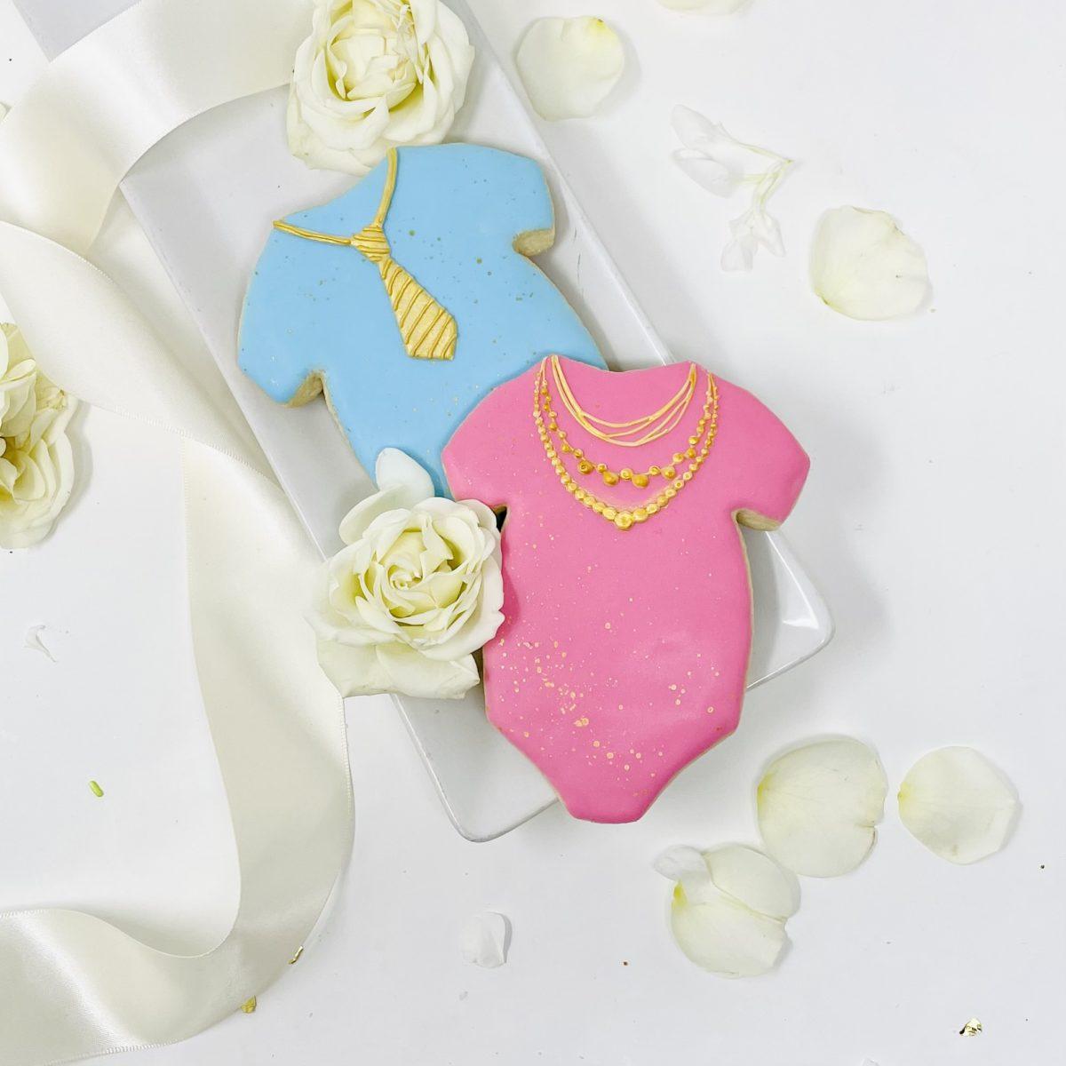 Baby Bling Gold Onesie Cookies