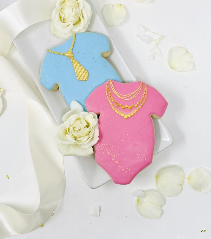 Vegan Baby Bling Gold Onesie Cookies